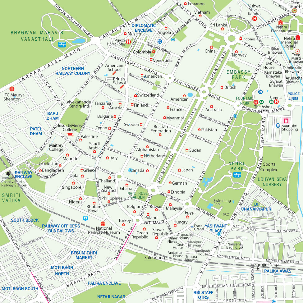 Tourist Attraction Map Of London.Maps Of Delhi