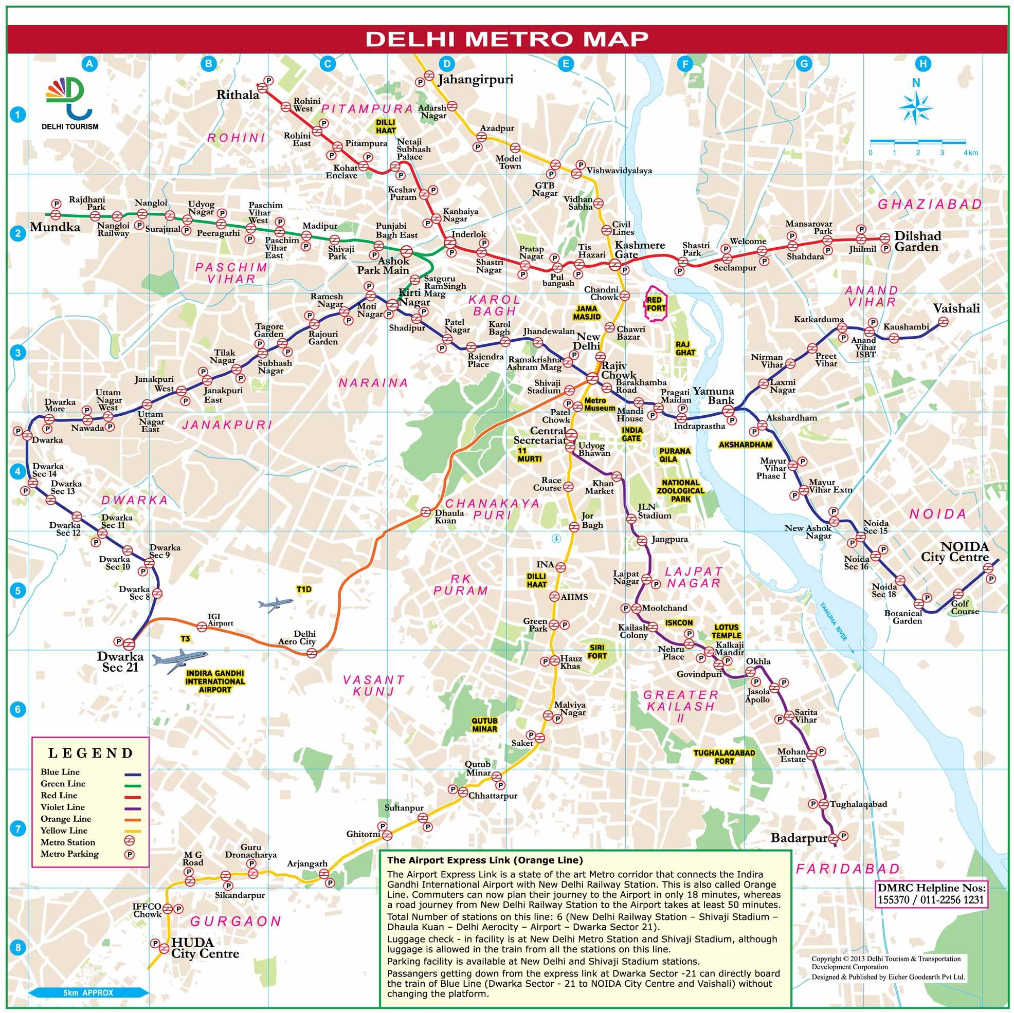 Paris Metro Map With Monuments.Maps Of Delhi