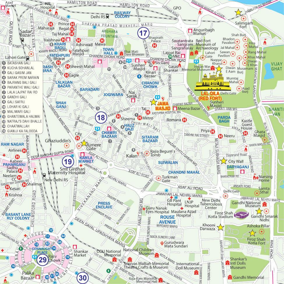 Delhi Tourist Map Maps of Delhi ::